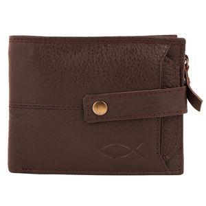Christian dukaan Wallet for Men's (Brown) - WLLTS-010