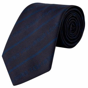 Christian dukaan Necktie- JESUS LOVES YOU ( blue colour)