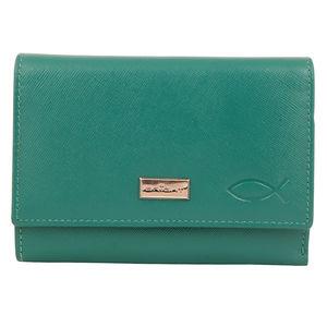 Christian dukaan Wallet for women's (Green) - WLLTS-017