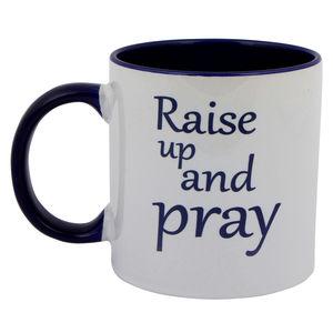 Christian dukaan mug- RAISE UP AND PRAY