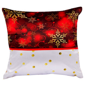 "Christian dukaan Satin Cushion Cover - Stars - 16"" X 16"" , Red"
