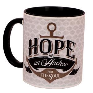 Christian dukaan Ceramic Christian Mug - Hope as an Anchor for The Soul