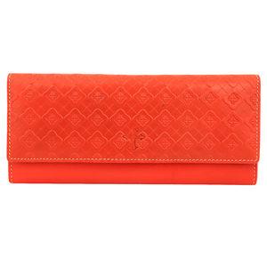 Christian dukaan Womens Purse Clutch Wallet (Orange) - WLLTS-024