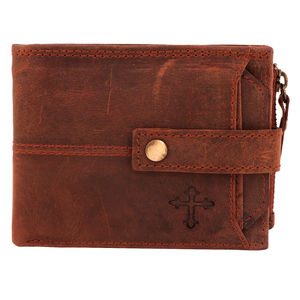 Christian dukaan Wallet for Men's (Brown) - WLLTS-012