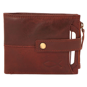 Christian dukaan Wallet for Men's (Thick Brown) - WLLTS-005