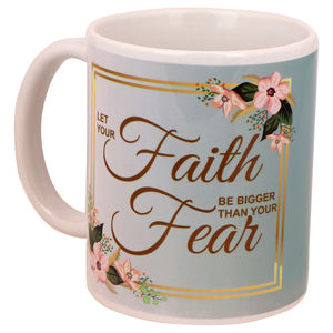 Christian dukaan mug- LET YOUR FAITH