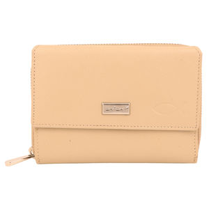 Christian dukaan Wallet for women's (Beige) - WLLTS-021