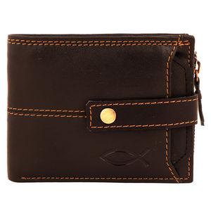 Christian dukaan Wallet for Men's (Brown) - WLLTS-014