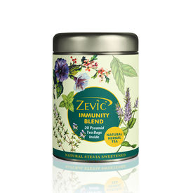 Zevic Immunity Blend Tea - 20 Pyramid Tea Bags (Sweetened with Stevia)