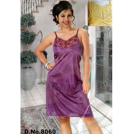 Transparent top Babydoll dress - JKSETH-1P-8060, sunny yellow, xl   32 -36  inch, babydoll dress with free panty