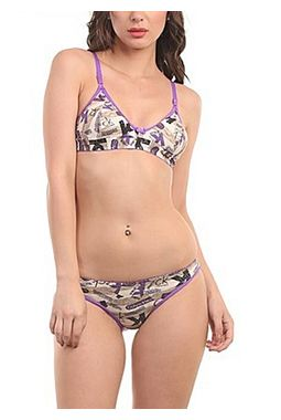 Bra Panty set - Kasak Set - JKLOVSETKASAK, 36b, purple lining