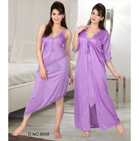 2 Piece enchanting nighty - JKHNS - 2P - 9049, catalog lavender color