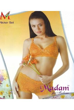 Bridal Nikker transarent Bra Panty set - JKMadams - Nikker Set, 34, skin color