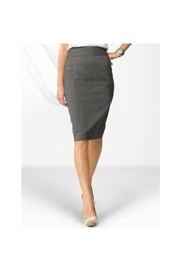 Van Huesan Pencil Skirt - Size 30 - Dark Grey with micro lines