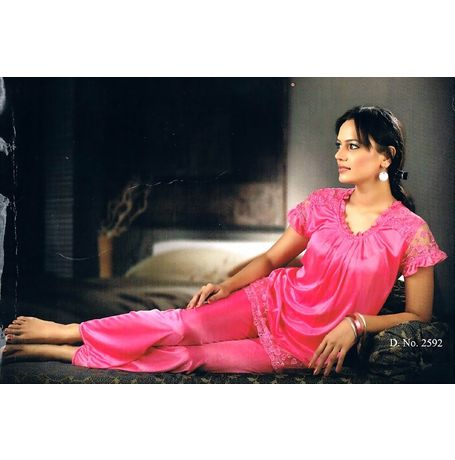 2 Piece designer Night Suit - JKHNS-NS- 2592, catalog pink