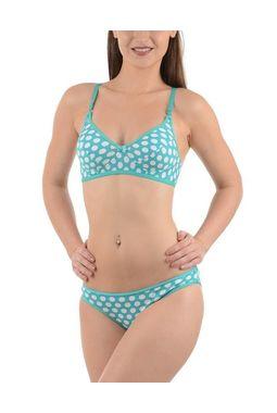 Bra panty Set - Polka dots - JKLOVSET-DIL, 34b, greenwhite