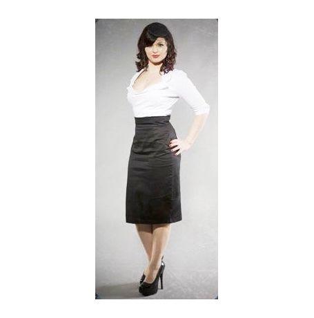 Van Huesan Skirt Size 34- Formal/Fancy - Black with Thin self lines- JKVHS007