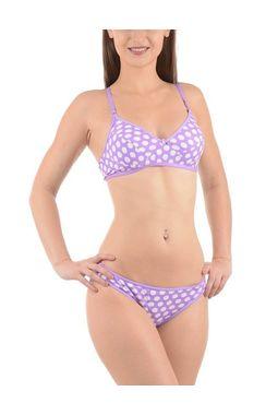 Bra panty Set - Polka dots - JKLOVSET-DIL, 34b, purplewhite