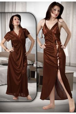 2 Piece Romantic Honeymoon Nighty - Sweetheart Sleepwear - JKHNS - 2P - 2902, catalog brown