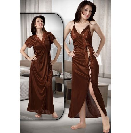 2 Piece Romantic Honeymoon Nighty - Sweetheart Sleepwear - JKHNS - 2P - 2902, catalog brown