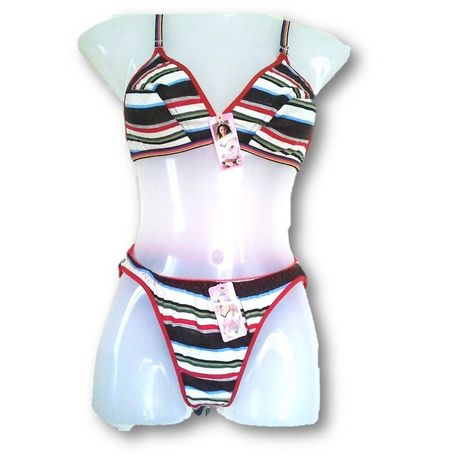 Hosiery bra panty Stripes set JKINDUSET-STRIPES, 34, cgrb