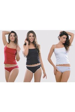 3 Slip Combo - Valentine Secret Skin - JKVALSLIP-3P-5019, red white black, xxl