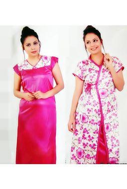 2 piece nighty - Premium - JKDEL-2P-PREMIUM, 139-carrot pink, free  30-36 bust  30-34 waist  30-36 hips