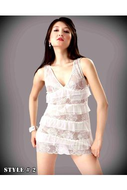 Transparent frills Babydoll - JKHNS-Baby-Style-2, catalog moon white