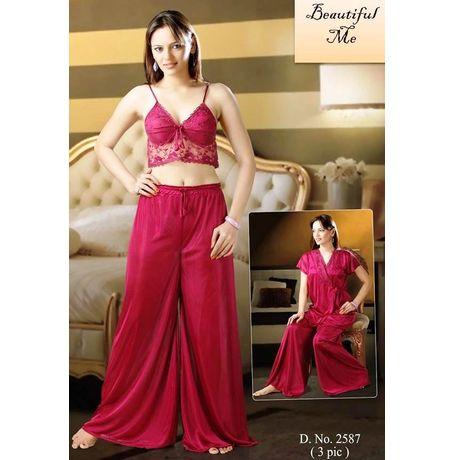 Bridal 3 Piece Nighty Premium - JKNHNS2587