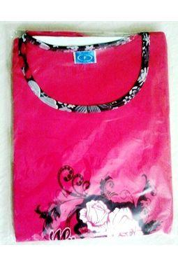 Capri Night Suit - Designer smooth soft - JKNS-1030, flowers-pink