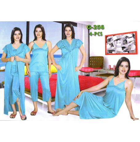 4- Piece Lovely daily use different styles nighty- JKG4P- G256- 001
