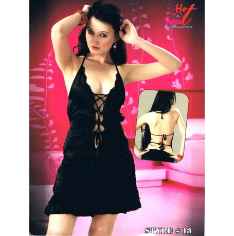 USA style tie knots Honeymoon Babydoll - JKHNS-Baby-Style13, catalog black color