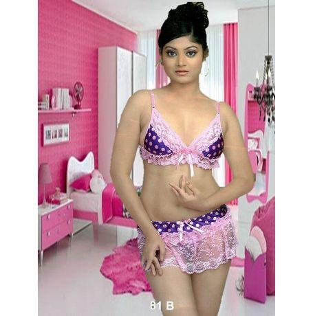 Honemoon Babydoll - 3 Piece Bra, Skirt & Panty- Wow - JK2PHOT-1781-B