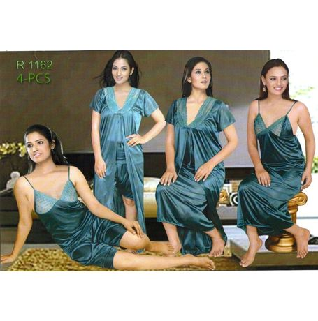 4 Piece Nikker Nighty - JK4P-R-1162
