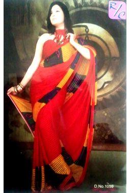 Saree - Designer Faux chiffon Saree - JKSAREERC1059
