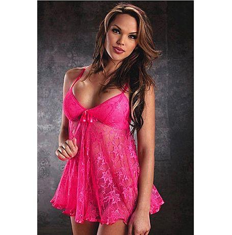 Lovely Babe In Pink babydoll - JKKLIFE - 4058, pink, free  30-34 bust  30-34 waist  30-34 hips