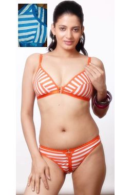 Sagarika Bra Panty Set, 30, blue white