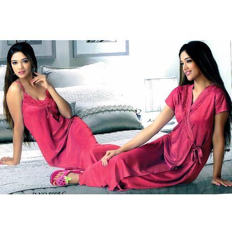 2 Piece nighty - JKHNS-2P- 8005, catalog color onion pink