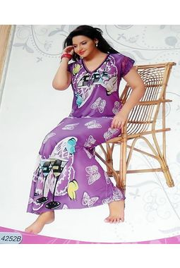 On piece designer nighty - JKNAV-1P-4252, purple, free  30-36 bust  30-34 waist  30-36 hips