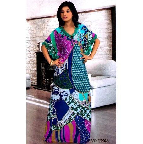 One piece Thailand designer nighty JKTHAI-NIGHTY-1P, multicolor - free size