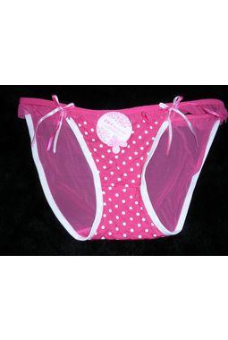 Premium Honeymoon panty - Front Hosiery Back Transparent panty - JKBLR-HoneyMoonPanty, pink-white lining, 28 - 34