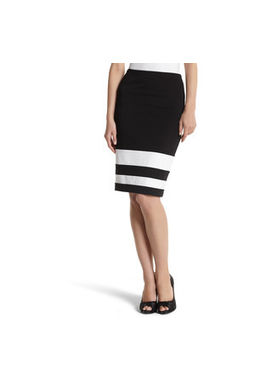 Van Huesan Skirt Size 30- Formal/Fancy - Jet Black with white Border at bottom