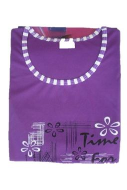 Capri Night Suit - Designer smooth soft - JKNS-1030, stripes-purple
