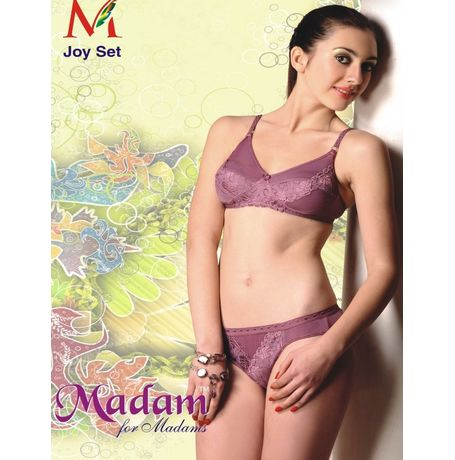 Bridal Bra Panty Set Madams Joy - JKMadam - JoySet, 34, peach color