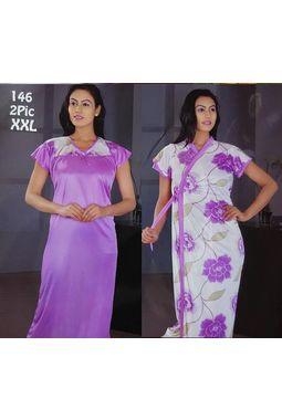 2 piece nighty - Premium - JKDEL-2P-PREMIUM, 146-lavender, xxl