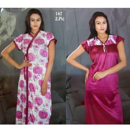 2 piece nighty - Premium - JKDEL-2P-PREMIUM, 139-pink, free  30-36 bust  30-34 waist  30-36 hips