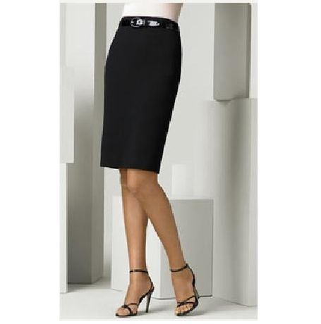 Van Huesan Pencil Skirt- VH Skirt 32- Dark Grey with Thin self lines