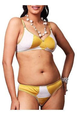 Super Chic Bra panty Set -NANCY, 34b, goldenyellow