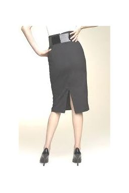 Van Huesan VH Skirt 34- Grey with thin lines, dark grey with micro self lines