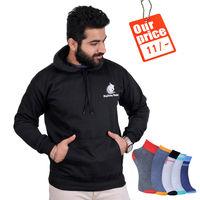 Desteeny Designs- plain hoodies Black pro red (combo of 5) Combo, l
